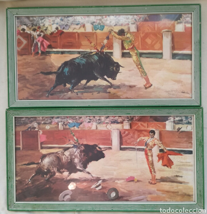 DOS ANTIGUAS LITIGRAFIAS DE ANTONIO CASERO. (Arte - Acuarelas - Contemporáneas siglo XX)