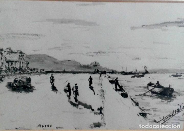 SANGINA DE ROSAS (GIRONA) POR FORNELLS VILA. PINTOR DEL SEGUNDO CUARTO DEL SIGLO XX, DE GERONA. (Arte - Acuarelas - Contemporáneas siglo XX)