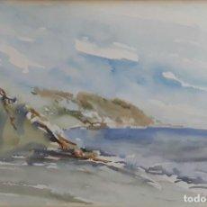 Arte: MARINAS. ACUARELA SOBRE PAPEL. PABLO TORRES(?). ESPAÑA. SIGLO XX.. Lote 78225937