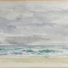 Arte: MARINAS. ACUARELA SOBRE PAPEL. PABLO TORRES(?). ESPAÑA. SIGLO XX.. Lote 78232905