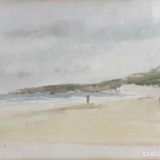 Arte: MARINAS. ACUARELA SOBRE PAPEL. PABLO TORRES(?). ESPAÑA. SIGLO XX.. Lote 78238509