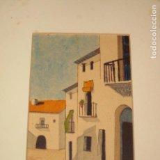 Arte: PINTURA ACUARELA Y ROTULADOR PAISAJE. Lote 26859652