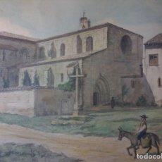 Arte: MONASTERIO DE VILLAVERDE DE SANDOVAL - MANSILLA DE LAS MULAS - LEON - ACUARELA. Lote 78459941