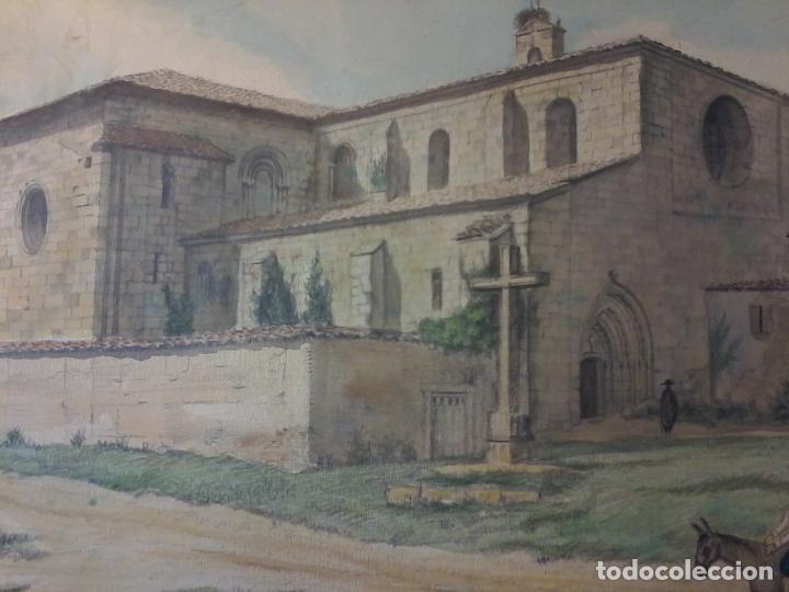 Arte: MONASTERIO DE VILLAVERDE DE SANDOVAL - MANSILLA DE LAS MULAS - LEON - ACUARELA - Foto 3 - 78459941