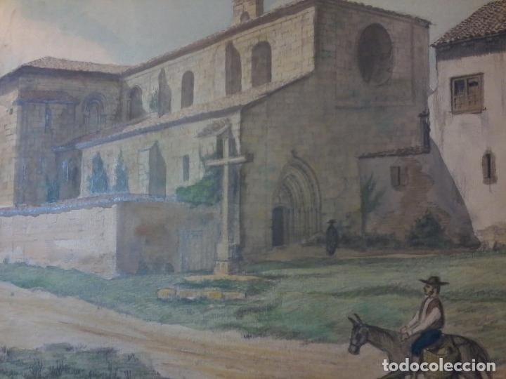 Arte: MONASTERIO DE VILLAVERDE DE SANDOVAL - MANSILLA DE LAS MULAS - LEON - ACUARELA - Foto 4 - 78459941