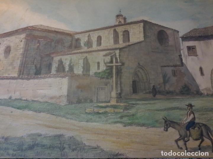 Arte: MONASTERIO DE VILLAVERDE DE SANDOVAL - MANSILLA DE LAS MULAS - LEON - ACUARELA - Foto 5 - 78459941