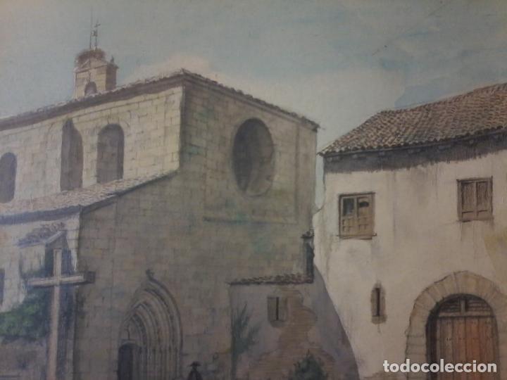Arte: MONASTERIO DE VILLAVERDE DE SANDOVAL - MANSILLA DE LAS MULAS - LEON - ACUARELA - Foto 6 - 78459941