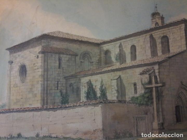Arte: MONASTERIO DE VILLAVERDE DE SANDOVAL - MANSILLA DE LAS MULAS - LEON - ACUARELA - Foto 7 - 78459941