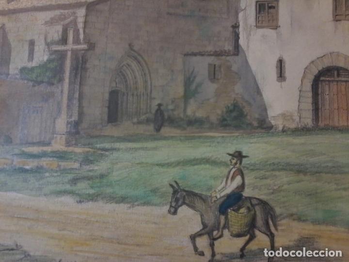 Arte: MONASTERIO DE VILLAVERDE DE SANDOVAL - MANSILLA DE LAS MULAS - LEON - ACUARELA - Foto 8 - 78459941
