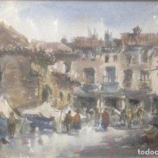 Arte: ACUARELA DE VICENTE PASTOR CALPENA (1918-1993). Lote 79099761