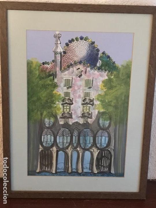Bonita acuarela de la casa batllo de barcelona vendido en subasta 79556793 - Casas de subastas en barcelona ...