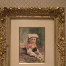 Arte: ACUARELA DE G. VALDECASAS (1881). Lote 80234213