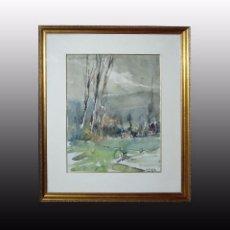 Arte: ACUARELA S.PRINCIPIOS S.XX, FIRMADA.. Lote 80348561