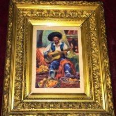 Arte: GUITARRISTA. ACUARELA SOBRE PAPEL. FIRMADO PETER HOUSTON. ESPAÑA(?) 1920. Lote 80624258