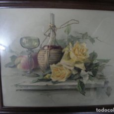 Arte: ANTIGUO CUADRO ACUARELA FIRMADO. Lote 80851575