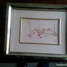 Arte: PLUMILLA MOTIVOS GALLEGOS ,CARMUCHA VAZQUEZ PRATS,AÑOS 80. Lote 80863191