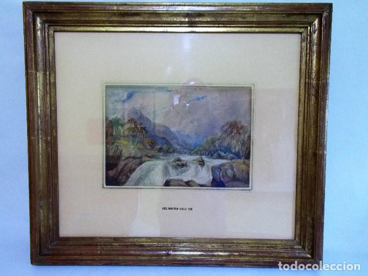 ANTIGUA ACUARELA SIGLO XIX ESCUELA INGLESA (Arte - Acuarelas - Modernas siglo XIX)