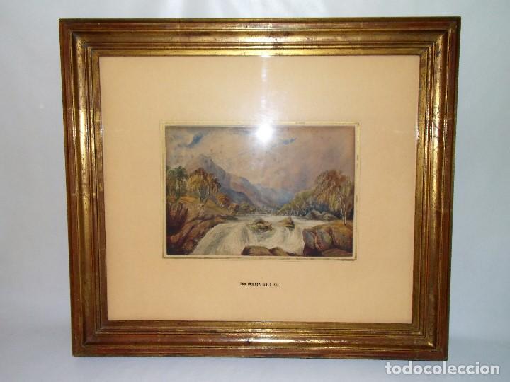 Arte: Antigua acuarela siglo XIX ESCUELA INGLESA - Foto 2 - 81113864