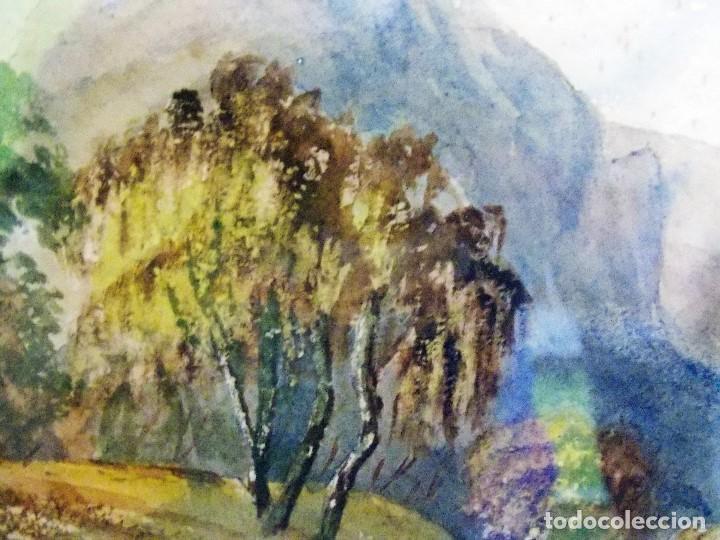 Arte: Antigua acuarela siglo XIX ESCUELA INGLESA - Foto 4 - 81113864