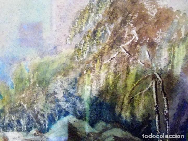 Arte: Antigua acuarela siglo XIX ESCUELA INGLESA - Foto 5 - 81113864