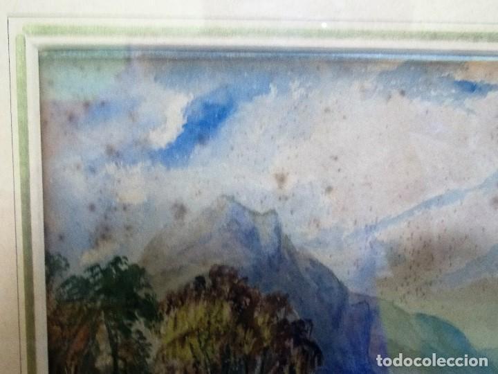 Arte: Antigua acuarela siglo XIX ESCUELA INGLESA - Foto 6 - 81113864