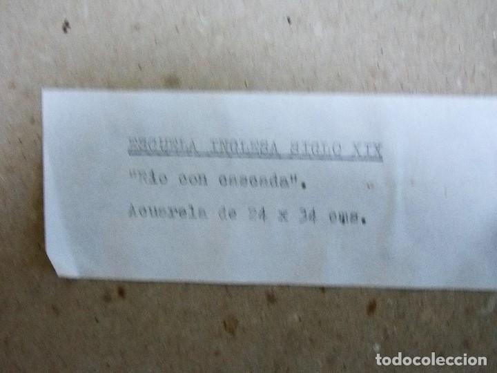 Arte: Antigua acuarela siglo XIX ESCUELA INGLESA - Foto 7 - 81113864