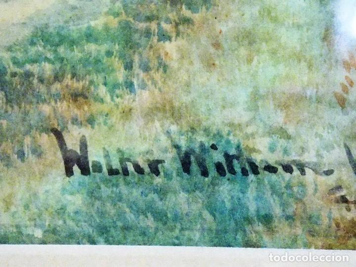 Arte: Antigua acuarela siglo XIX ESCUELA INGLESA 1851 WALTER WITHAM - Foto 6 - 81122976