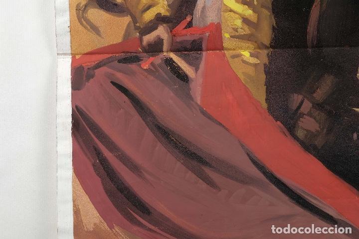 Arte: Acuarela sobre papel Escena taurina mediados siglo XX - Foto 5 - 81178956
