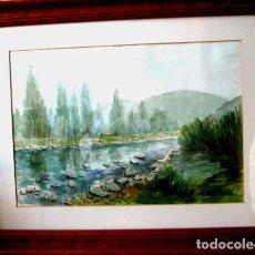 Arte: JORGE GUILLEMOT. GRUPO PONT DE FUSTA (ESCUELA VALENCIANA). ACUARELA 35X50 CMS. Lote 81680896