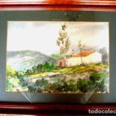 Arte: JORGE GUILLEMOT. GRUPO PONT DE FUSTA (ESCUELA VALENCIANA). ACUARELA 35X50 CMS. Lote 81682016