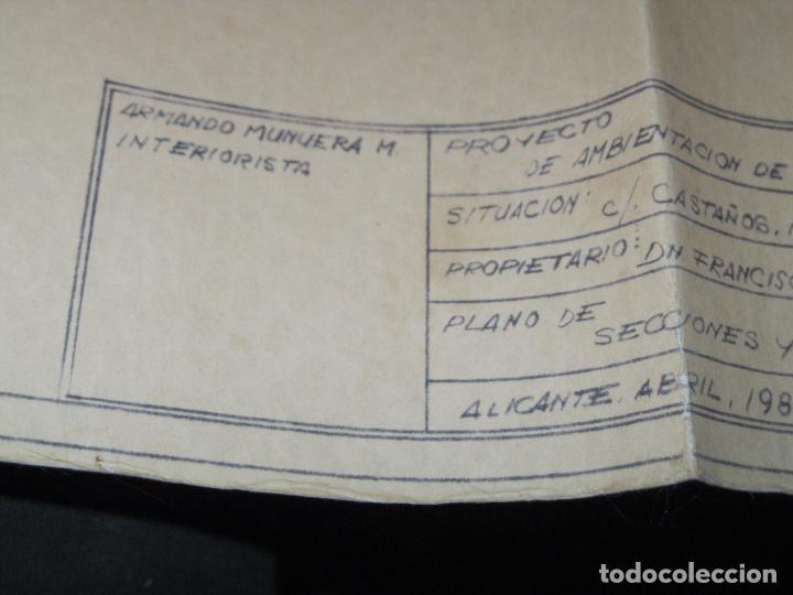Arte: PLANO calle Castaños Aicante ACUARELA CARTEL ANTIGUO JOYERIA FIRMA F. NAVARRO SORIA - Foto 10 - 26032725
