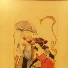Arte: B. SORIANO. INTERESANTE ACUARELA SOBRE CARTÓN, ORIGINAL AÑOS 20. ART DECO, MODERNISTA 20X28CM. Lote 82237172