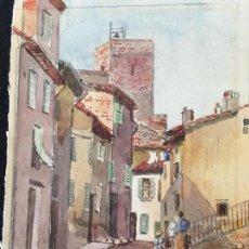 Arte: ACUARELA PUEBLO 1906. Lote 82734344
