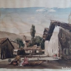 Arte: JOAN COLOM I AGUSTI-ARENYS DE MAR 1879-1969 , NAVARRA ,ACUARELA FDO. MED.44X57 (MANCHAS EN PAPEL ). Lote 82962276