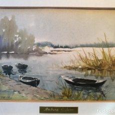 Arte: ACUARELA ORIGINAL ANTONI ESTEVE SENIS,,,(VALENCIA 1882-1952). PINTOR PAISAJISTA.. Lote 82969556