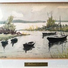 Arte: ACUARELA ORIGINAL ANTONI ESTEVE SENIS,,,(VALENCIA 1882-1952). PINTOR PAISAJISTA.. Lote 82969628