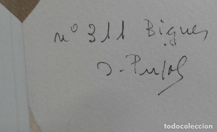 Arte: Acuarela del año 1977 de Bigues firmada por Pujol - Foto 5 - 83151684