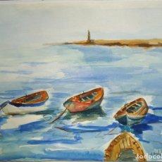 Arte: ACUARELA DE ALFREDO ROLDAN MIDE 28 X 38 CM.. Lote 83312224