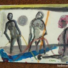 Arte: ACUARELA DE MIGUEL SERRANO CROMA MIDE 49 X 32 CM. FIRMADA CROMA. Lote 83313476