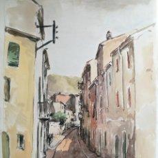 Arte: ACUARELA ORIGINAL JAUME CARBONELL CASTELL,,, (BARCELONA, 1942 - 2010). AÑOS 60. Lote 83785920