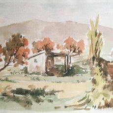 Arte: ACUARELA ORIGINAL JAUME CARBONELL CASTELL,,, (BARCELONA, 1942 - 2010). AÑOS 60. Lote 83786156