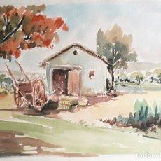 Arte: ACUARELA ORIGINAL JAUME CARBONELL CASTELL,,, (BARCELONA, 1942 - 2010). AÑOS 60. Lote 83786276