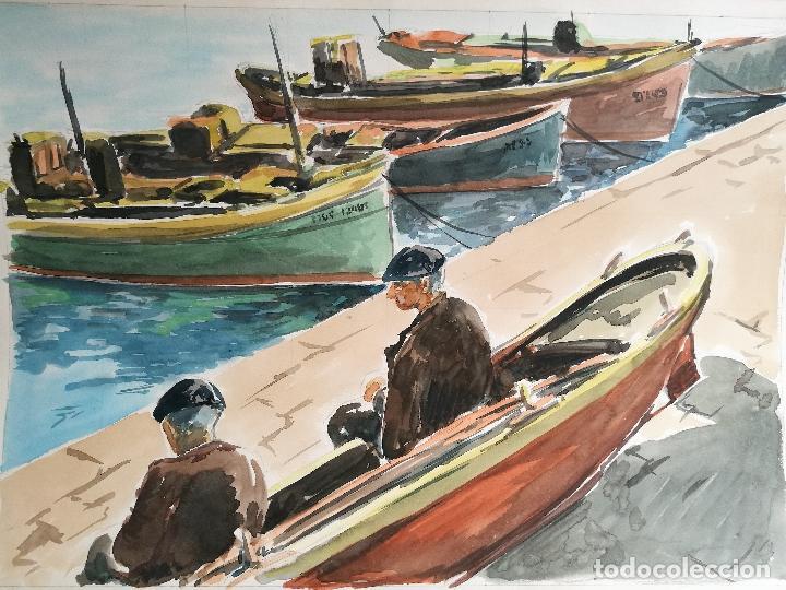 ACUARELA ORIGINAL JAUME CARBONELL CASTELL,,, (BARCELONA, 1942 - 2010). 1961 (Arte - Acuarelas - Contemporáneas siglo XX)