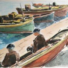 Arte: ACUARELA ORIGINAL JAUME CARBONELL CASTELL,,, (BARCELONA, 1942 - 2010). 1961. Lote 83786548