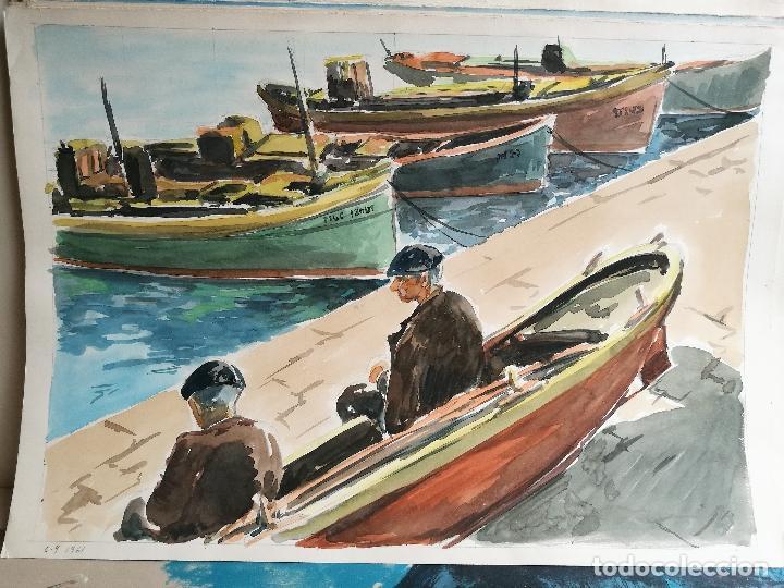 Arte: ACUARELA ORIGINAL JAUME CARBONELL CASTELL,,, (Barcelona, 1942 - 2010). 1961 - Foto 2 - 83786548