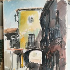 Arte: ACUARELA ORIGINAL JAUME CARBONELL CASTELL,,, (BARCELONA, 1942 - 2010). AÑOS 60. Lote 83786672