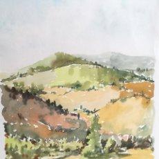 Arte: ACUARELA ORIGINAL JAUME CARBONELL CASTELL,,, (BARCELONA, 1942 - 2010). AÑOS 60. Lote 83786704
