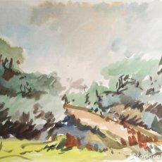 Arte: ACUARELA ORIGINAL JAUME CARBONELL CASTELL,,, (BARCELONA, 1942 - 2010). AÑOS 60. Lote 83786772