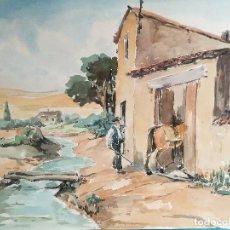 Arte: ACUARELA ORIGINAL JAUME CARBONELL CASTELL,,, (BARCELONA, 1942 - 2010). AÑOS 60. Lote 83786884
