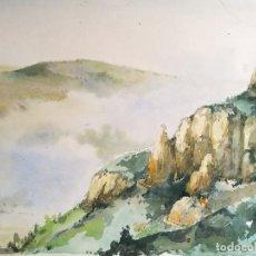 Arte: ACUARELA ORIGINAL JAUME CARBONELL CASTELL,,, (BARCELONA, 1942 - 2010). 1961. Lote 83786976